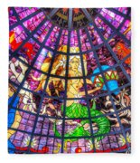 Mermaid Stained Glass Art  Fleece Blanket