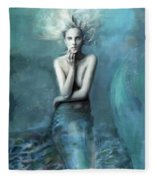 Mermaid Water Spirit Fleece Blanket