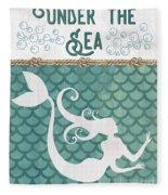 Mermaid Waves 2 Fleece Blanket