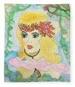 Mermaid With Music  Fleece Blanket