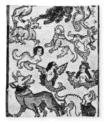 Mermaids, 1475 Fleece Blanket