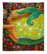 Mermaid's Circle Fleece Blanket