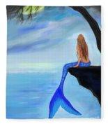 Mermaids Lovely Oasis Fleece Blanket
