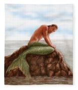Merman Resting Fleece Blanket