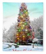 Merry Christmas 2015 Fleece Blanket