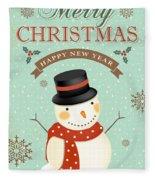 Merry Christmas-jp2766 Fleece Blanket