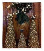 Merry Christmas Trees Fleece Blanket