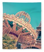 Merry Go Paris Fleece Blanket by Delphimages Photo Creations