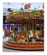 Merry-go-round At The Prater Fleece Blanket