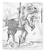 Merry-go-round Horse Fleece Blanket