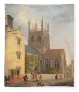 Merton College - Oxford Fleece Blanket