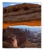 Mesa Arch Morning Glow Fleece Blanket