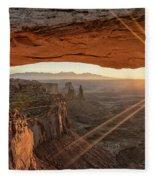 Mesa Arch Sunrise 4 - Canyonlands National Park - Moab Utah Fleece Blanket