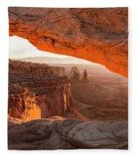 Mesa Arch Sunrise 5 - Canyonlands National Park - Moab Utah Fleece Blanket