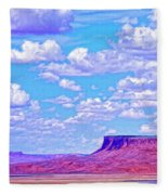 Mesa At Vermilion Cliffs Fleece Blanket