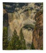 Mesa Falls In Summer Fleece Blanket