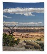 Mesa View In Utah Fleece Blanket