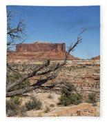 Mesas Near Moab Fleece Blanket