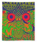Mesmerizing Owl Fleece Blanket
