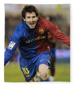 Messi 1 Fleece Blanket
