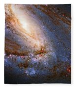 Messier 66 Galaxy Enhanced Fleece Blanket