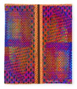 Metal Panel Abstract Fleece Blanket