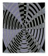 Metal Panel With Holes Abstract #3 Fleece Blanket