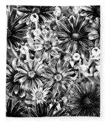 Metal Petals Fleece Blanket