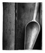 Metal Scoop In Wooden Box Still Life Fleece Blanket