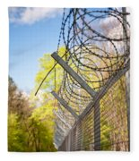Metal Sharp Barbed Wire Fleece Blanket