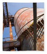 Metal Silos Fleece Blanket