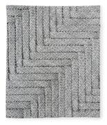 Metallic Grey Rope Weaved Pattern Fleece Blanket