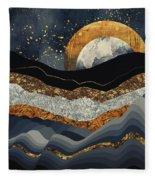 Metallic Mountains Fleece Blanket