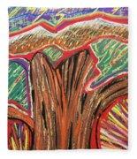 Metamorphosis Of The Great Tree Into Petrified Wood Fleece Blanket