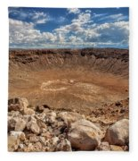 Meteor Crater Fleece Blanket