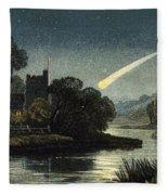 Meteor In Night Sky, 1868 Fleece Blanket