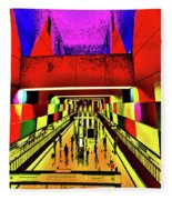 Metro 4, Budapest, Hungary, Poster Effect 1a Fleece Blanket