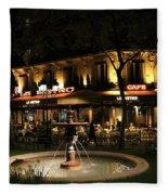 Metro Cafe Paris Fleece Blanket