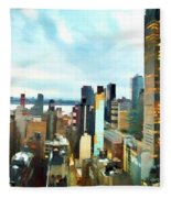 Metro Skyline Fleece Blanket