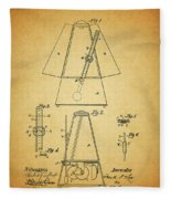 Metronome Patent Fleece Blanket