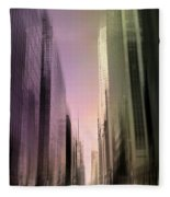 Metropolis Sunset Fleece Blanket