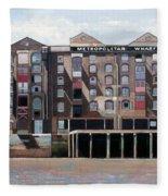 Metropolitan Wharf Fleece Blanket