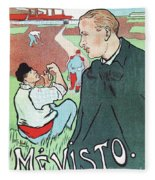 Mevisto In The Country French Theatre Ad Fleece Blanket