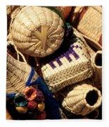 Mexican Baskets Fleece Blanket