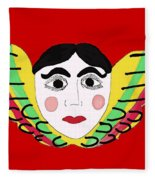 Mexican Cherub Fleece Blanket