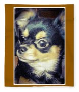 Mexican Chihuahua Puppy Fleece Blanket
