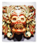 Mexican Day Of The Dead Mask Fleece Blanket