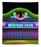 Mexican Food Fleece Blanket