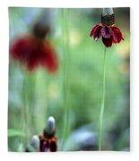 Mexican Hat Flower Fleece Blanket