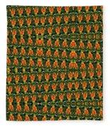 Mexican Poppy Field Abstract Fleece Blanket